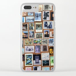 Wooden Postcard Wall Clear iPhone Case