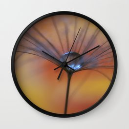 Warm Water A Dandelion Seed Parachute Wall Clock