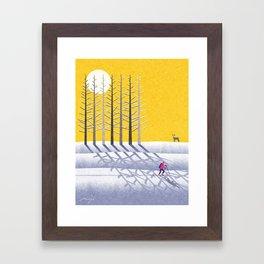 Ski holidays Framed Art Print