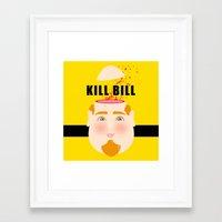kill bill Framed Art Prints featuring Kill Bill by Frikaditas T-Shirts
