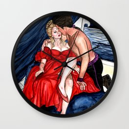Romance Novel Wall Clock
