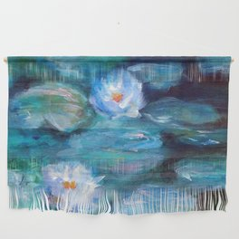 Blue Water Lilies Wall Hanging