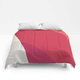 Shades Of Red And Gray Modern Abstract Pattern Comforters