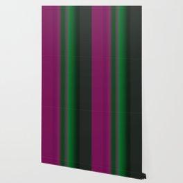 Emerald Green Ultra Violet stripes Wallpaper