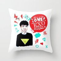 exo Throw Pillows featuring EXO WE ARE ONE! D.O Version by Haneul Home