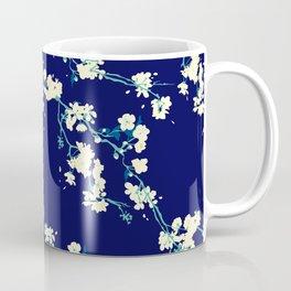 Cherry blossoms in Navy Coffee Mug