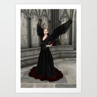 evil queen Art Prints featuring Evil Queen by Design Windmill