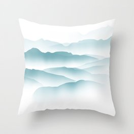blue minimalist clouds Throw Pillow