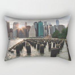 Sunset on Manhattan Rectangular Pillow