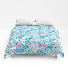 Coral reef blue Comforters