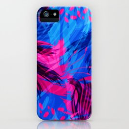 Going for an Abstract Swim iPhone Case
