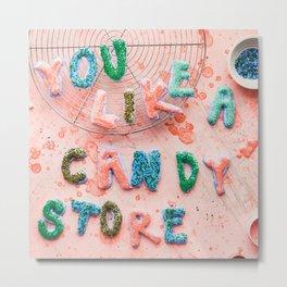 You like a Candy Store! Pop Art Sweet Print Metal Print