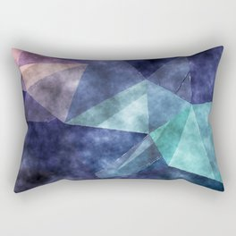 The deep blue sea- Watercolor triangles pattern in blue colors Rectangular Pillow