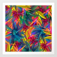 tropical Art Prints featuring tropical by mark ashkenazi