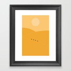 Desert. Framed Art Print