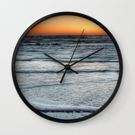 Fall Sunset Wall Clock