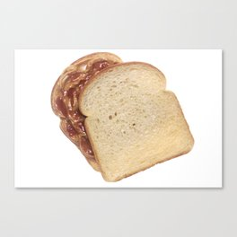 Peanut Butter and Jelly Sandwich Canvas Print