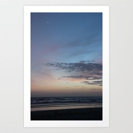 Moon Over Tide Art Print