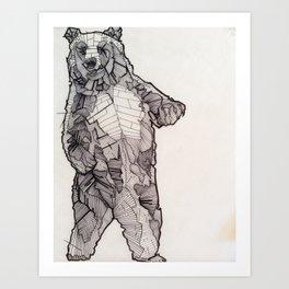 Huskily Bear Art Print