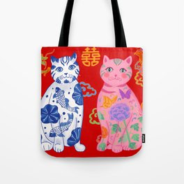 Double Hiness When Ming Meets Qing Tote Bag