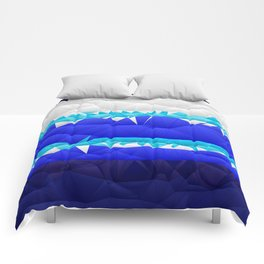 Nautical Inspired Quilted Pattern Design Comforters