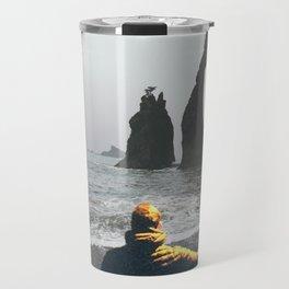 Wanderer at the Washington State Beach Travel Mug