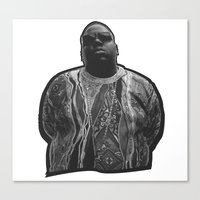 biggie Canvas Prints featuring biggie by irdion