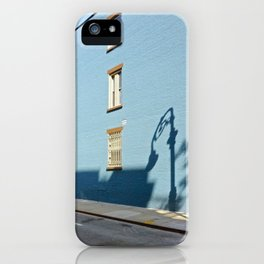 Shadows on a Greenwich Village street, NYC iPhone Case