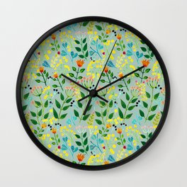 All you need is flowers Wall Clock