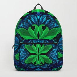 In the Deep Blue Lily Pad Dreams of a Green Man Backpack