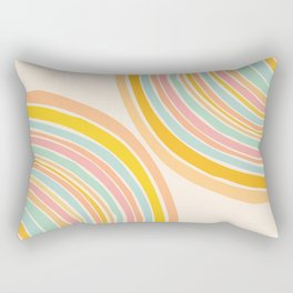Rainbow Reflections / Colorful Geometric Rectangular Pillow
