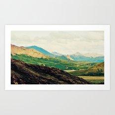 Denali Mountains  Art Print