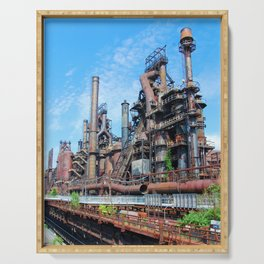 Bethlehem Steel Blast Furnaces 8 Serving Tray