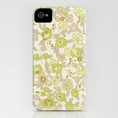 small vintage floral Slim Case iPhone (4, 4s)