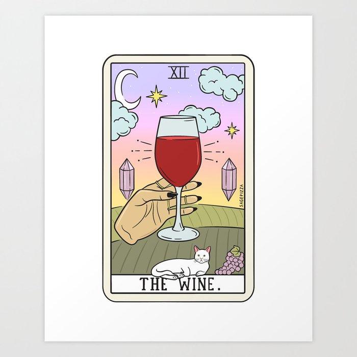 WINE READING (LIGHT) Kunstdrucke