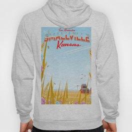 Smallville Kansas retro Travel poster Hoody