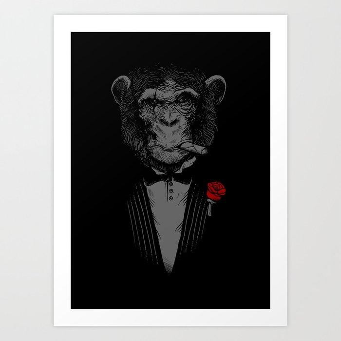 Monkey Business Art Print by alexmdc | Society6