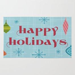 Mid Century Happy Holidays Rug