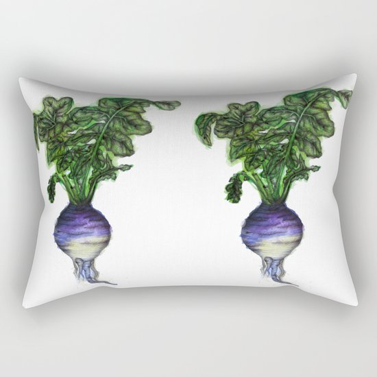 Rooted: The Rutabaga Rectangular Pillow