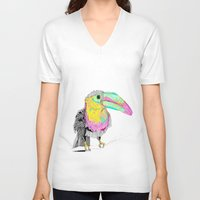 toucan V-neck T-shirts featuring Toucan by caseysplace