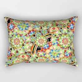 Design Confections Pattern on Pattern III Rectangular Pillow