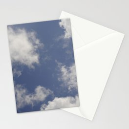Blue sky and clouds Stationery Cards