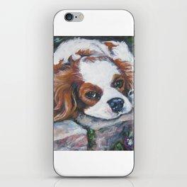 Beautiful Blenheim Cavalier King Charles Spaniel Dog Art Painting by LA.Shepard iPhone Skin