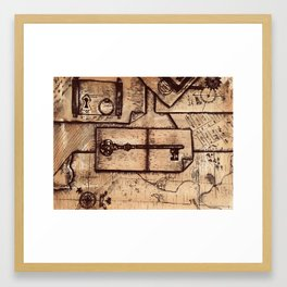 Piece Together the Clues Framed Art Print