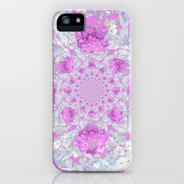 DELICATE LILAC & WHITE PHLOX FLOWERS  ABSTRACT PATTERNS iPhone Case