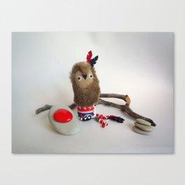 Tokoda owl totem Canvas Print