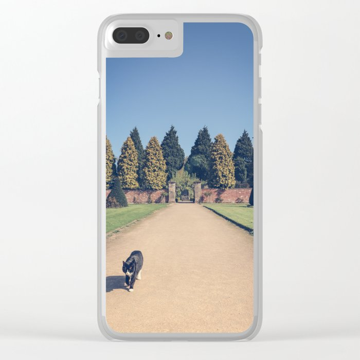 Stalking Cat Clear iPhone Case