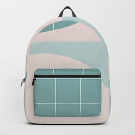 Circles on the grid 2 - Lagoon & pink - mix & match collection Backpack
