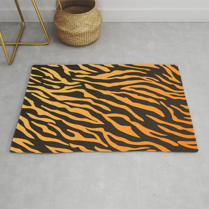 Tiger Stripes Animal Print Pattern Rug