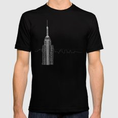 NYC by Friztin Black Mens Fitted Tee LARGE